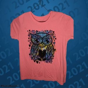 Girls Colorful owl Tee